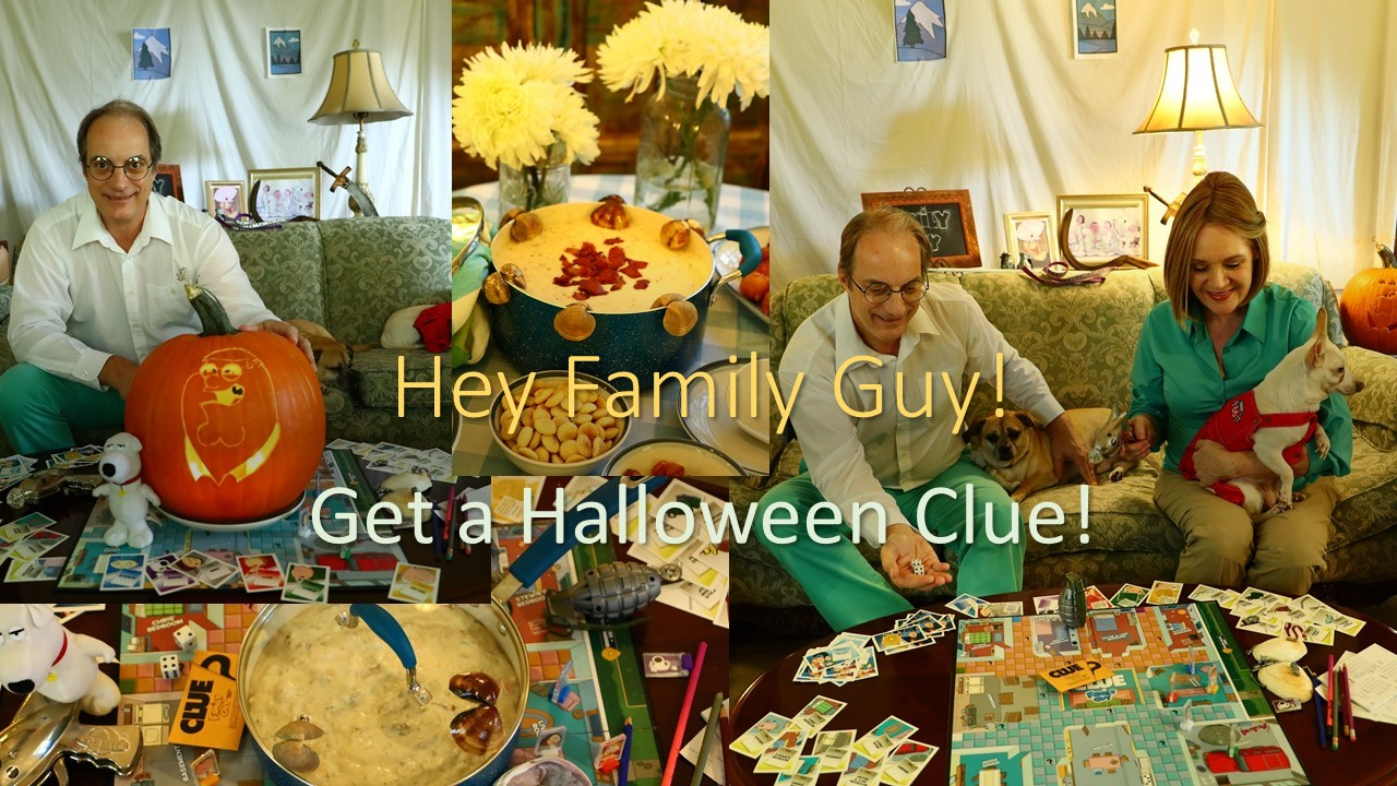 Hey Family Guy!  Get a CLUE for Halloween!