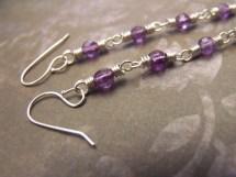 Purple Nocturne Amethyst Earrings - Long Gemstone Shoulder