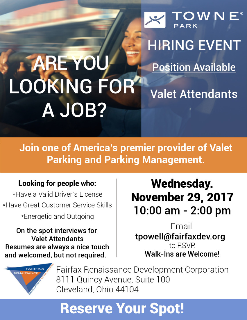 Valet Attendant in Cleveland OH United States