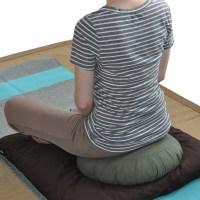 Silk Sari Zafu Meditation Cushion with Carry-all Yoga Bag ...