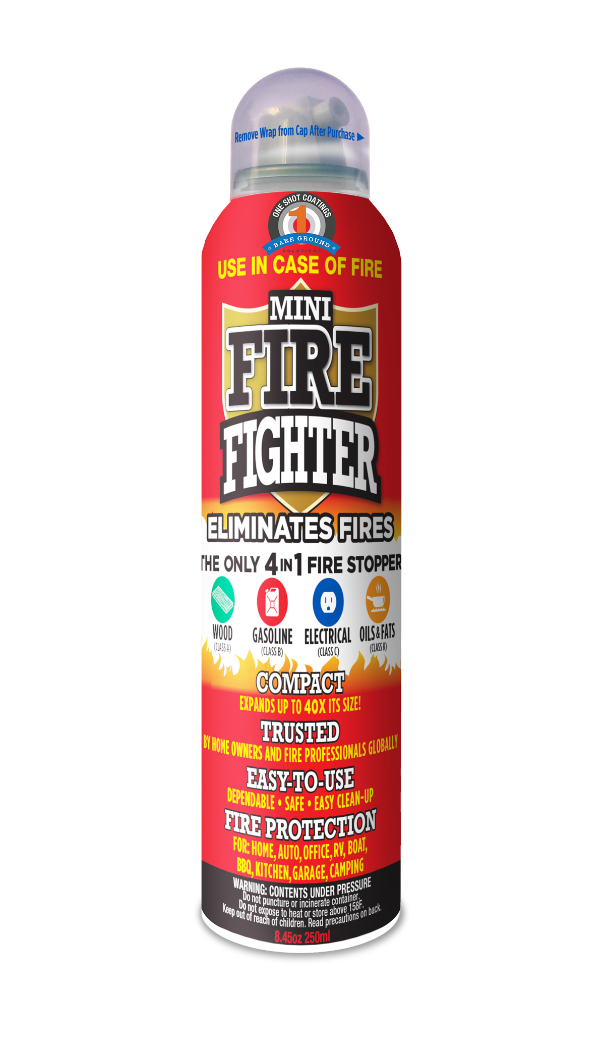One Shot Mini Fire Extinguisher