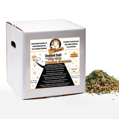 Bare Ground Granular Ice Melt with Infused Traction Granules -40 LB Box