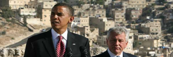 Obama and Chuck Hagel