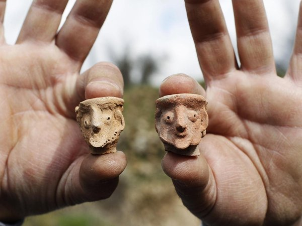 Figurines found at Tel Motza archaeological site