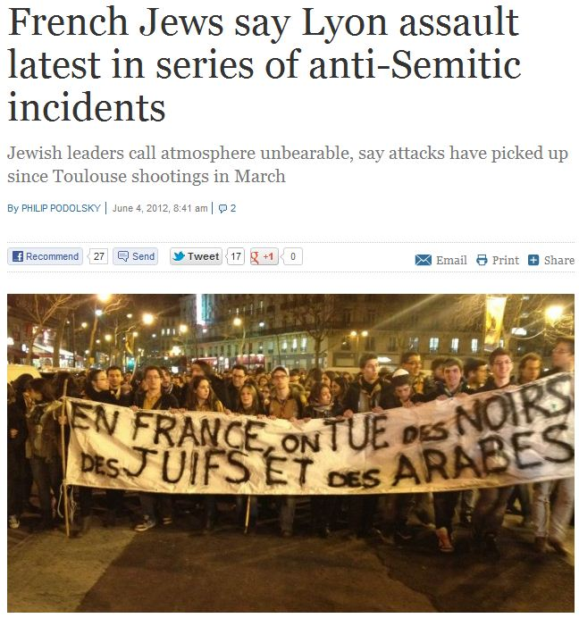 French-Jews-protest-against-brutal-antisemitic-attack-4.6.2012