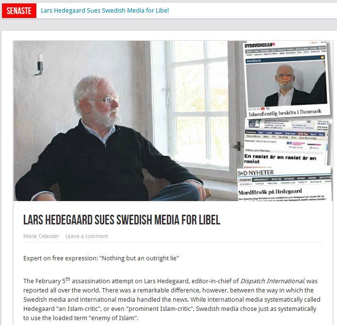 Lars-Hedegaard-sues-Swedish-media-15.2.2013