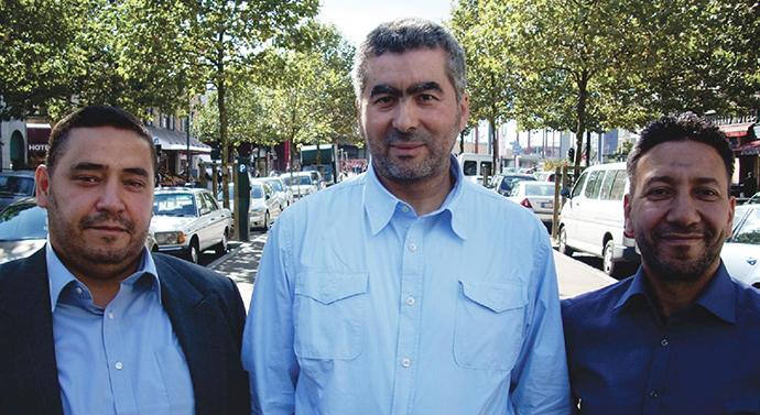 Redouane Ahrouch, Abdelhay Bakkali Tahiri (president of federation of Bruxelles-Capitale), Lhoucine Ait Jedding.