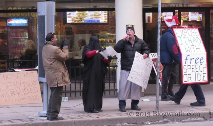 Anti-Islam protesters