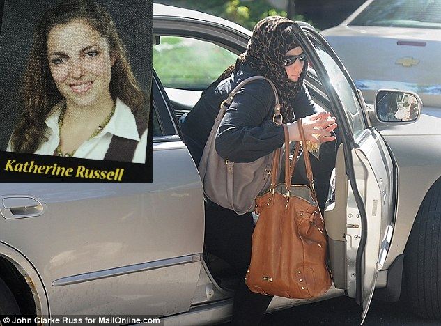 Katherine Russell Tsarnaev, wife of the dead Chechen Muslim terrorist before and after becoming a slave to Islam