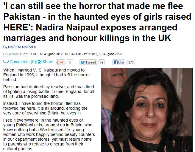 Nadira-Naipul-expone-honor-matanza-y-los matrimonios arreglados en el Reino Unido 08/19/2012