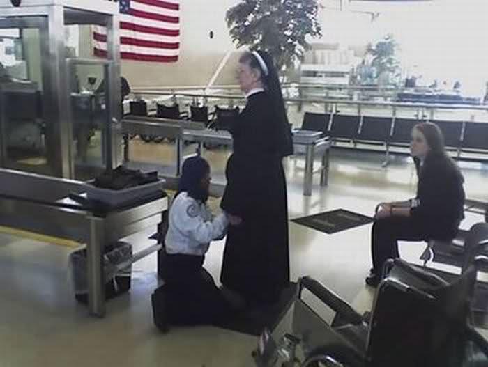 MUSLIM TSA AGENT GROPING A NUN