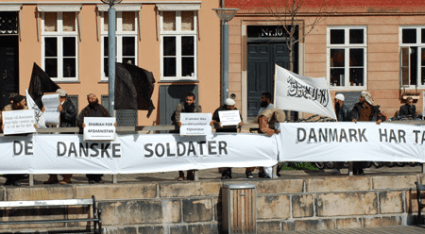 """Death to the Danish soldiers"". The Muslims did their best to mock the victims' survivors and destroy the reception."