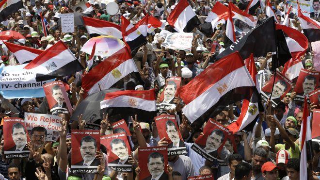 Mideast Egypt pro Morsi protests july12