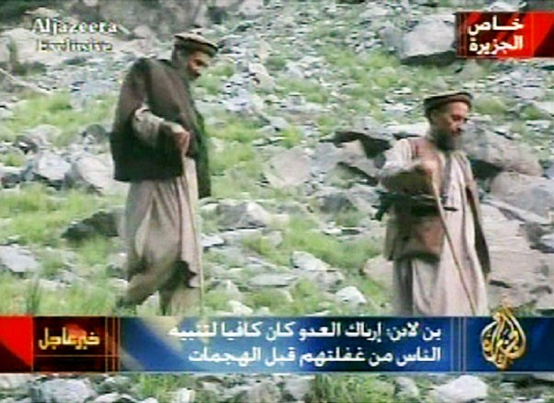 Al-Jazeera was used by Osama bin-Laden and Ayman al-Zawahiri (shown above) as their personal spokes network