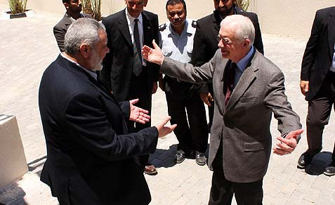 Big Hugs for HAMAS from Jimmy Carter
