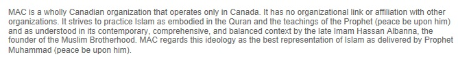 Muslim Association of Canada worships Hassan Al Banna