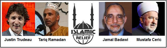 Trudeau is among the supporters of Islamic Relief, a well-known supporter of terrorist groups like Hamas