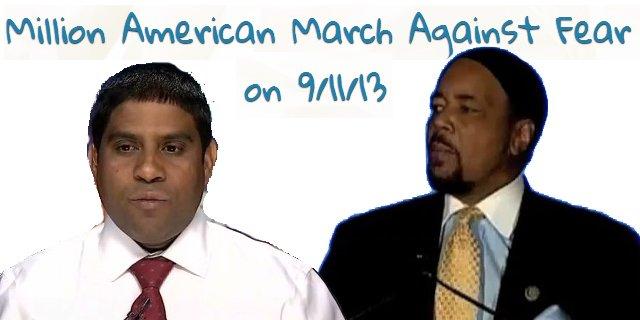 March organizer MD Rabbi Alam (l), march speaker Imam Mahdi Bray (r)
