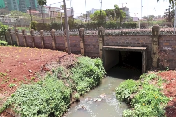 The tunnel leads from the centre of Nairobi and into the car park of the Westgate shopping centre
