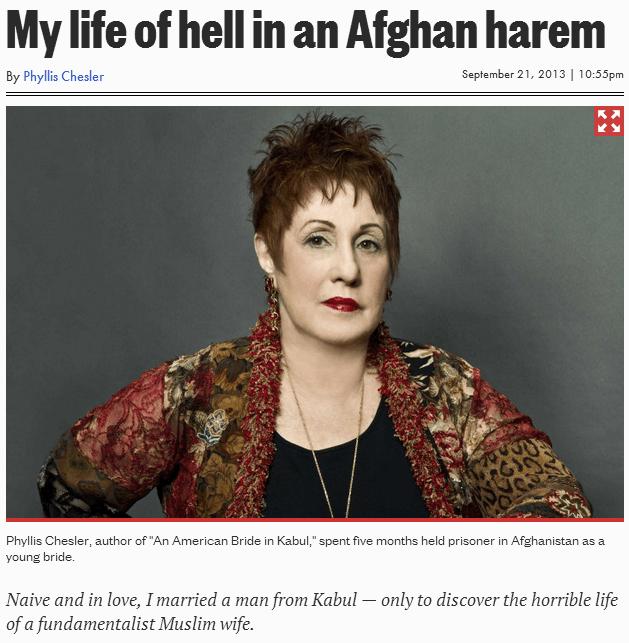 Phyllis Chesler-nuevo-libro-an-american-novia-en-un-afgano-harén 22/09/2013