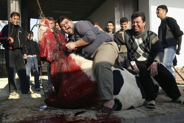 Palestinians Celebrate Eid Al-Adha By Slaughtering Animals