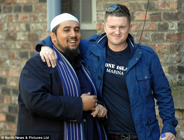 Tommy Robinson meets with Mohammed Ansar, a prominent political and social commentator. As he quit the EDL today, he said he wants to 'lead a revolution against Islamist ideology' but not 'lead a revolution against Muslims'