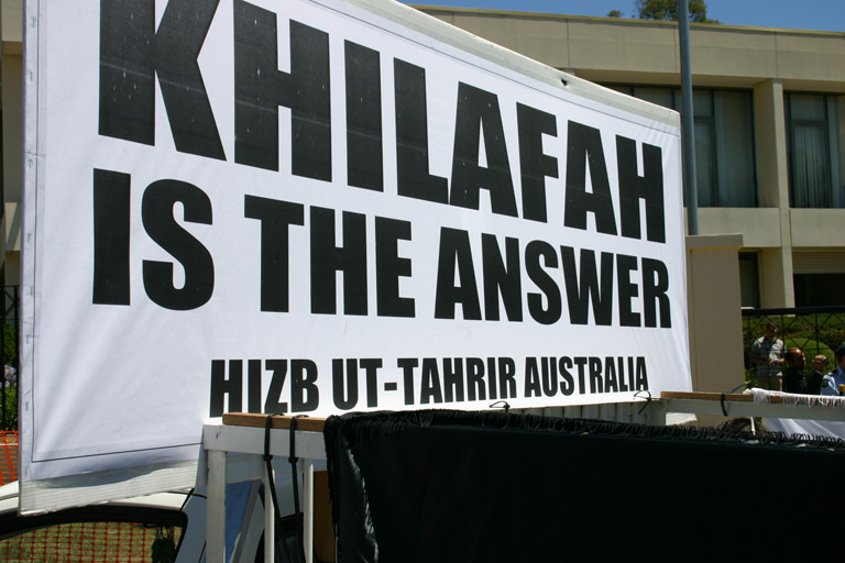 Muslims calling for an Islamic Caliphate in Australia