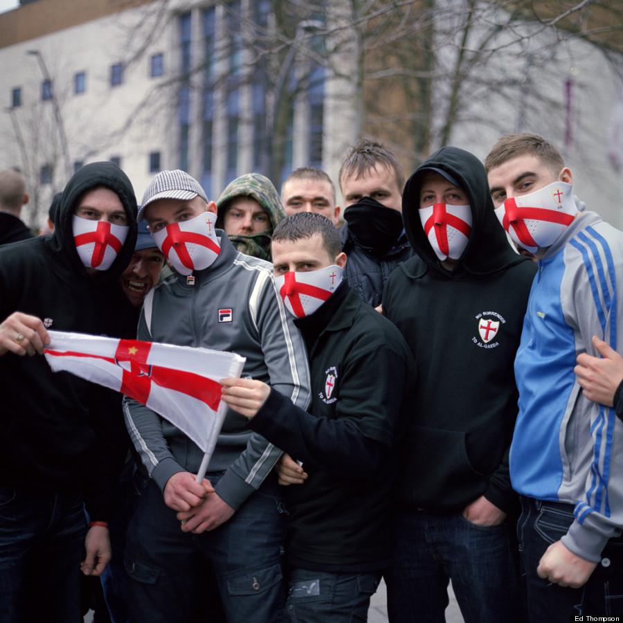 English Defence League. UK. Luton, 2011.