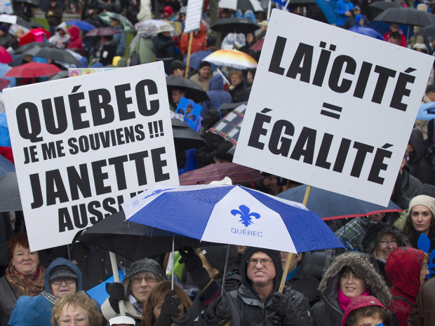Supporters of Quebec Values Charter