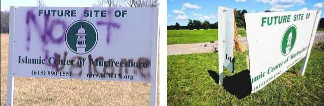 Murfreesboro-Vandalism-Sign
