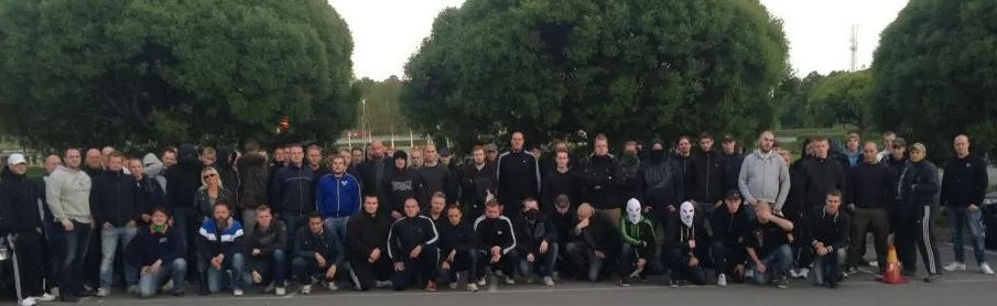 Swedish nationalists who gathered in Stockholm to patrol the streets, after the police chief admitted they were dong nothing to stop the riots.