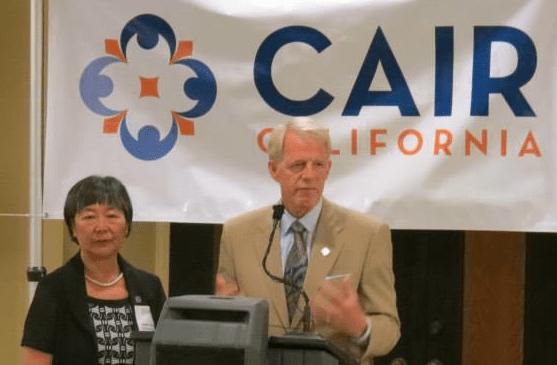 Assemblymembers Mariko Yamada and Roger Dickinson at a terror-linked CAIR California event.