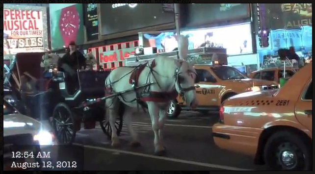 2012-08-12-Horse-drawn-carriages-working-in-Times-Square-NYC