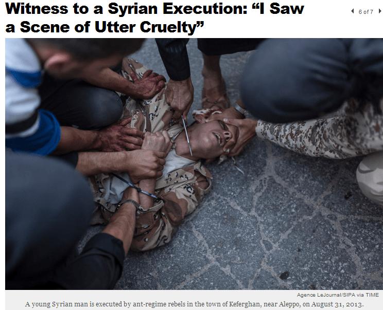 sirio-rebelde-yihadistas-ejecutar-régimen-soldado por decapitación-13-9-2013