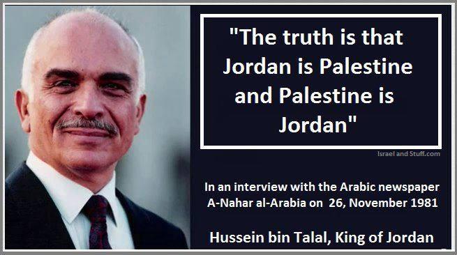 El rey Hussein de Jordania dijo que primero