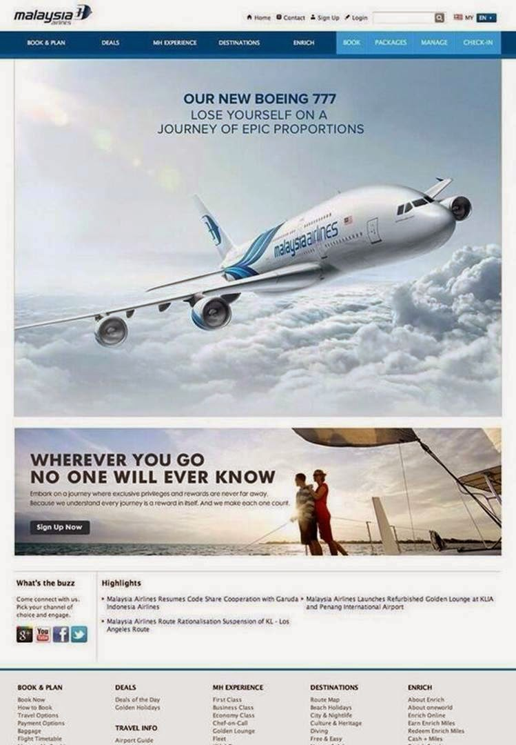 Malaysia Airlines ad
