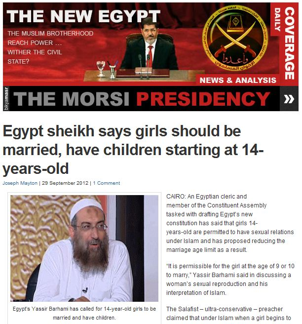 egypt-sheik-says-pre-pubescent-girls-can-be-married-mothering-by-age-14-30.9.2012