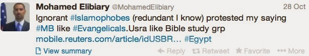 Elibiary compares the terrorists of the Muslim Brotherhood to Christian Evangelicals