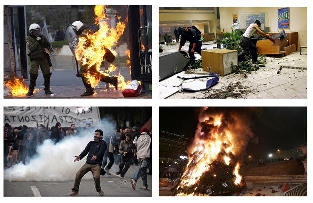 Muslims rioting in Athens