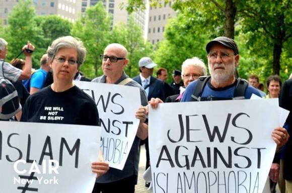 Judios contra la islamofobia, la foto en la página de Facebook CAIR