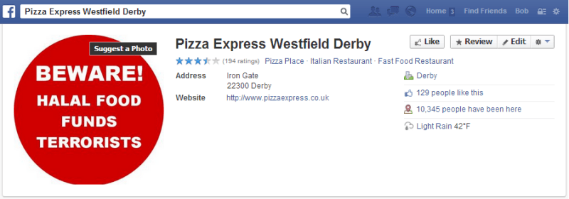 Derby-Pizza-Express-Facebook-page-sabotaged-e13910598704181