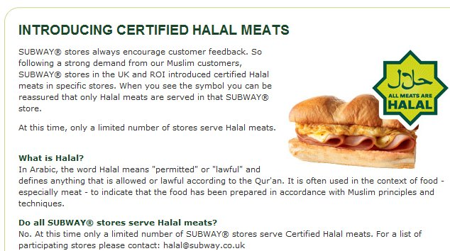 Subway-Halal
