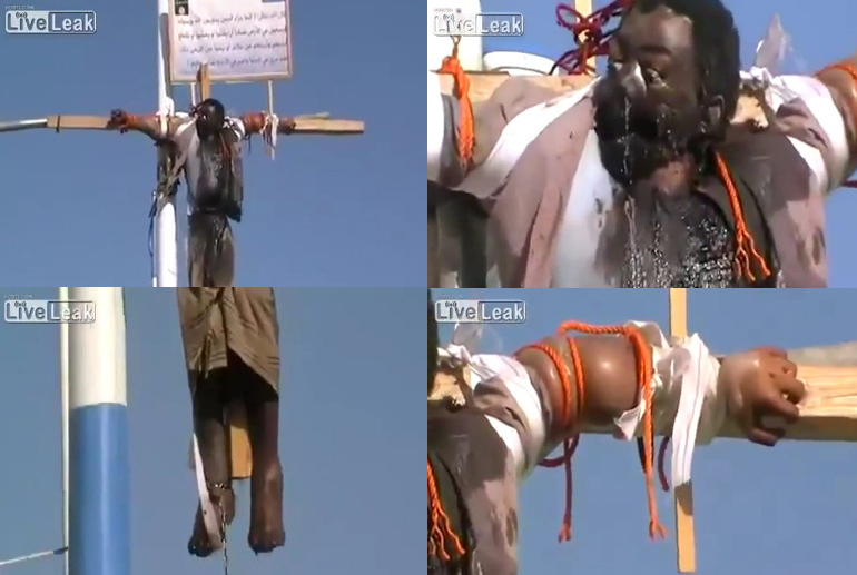 Yemen crucifixion of a Christian