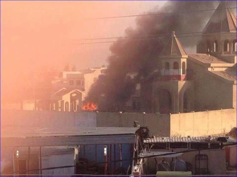 Churches burned down by ISIS in Iraq