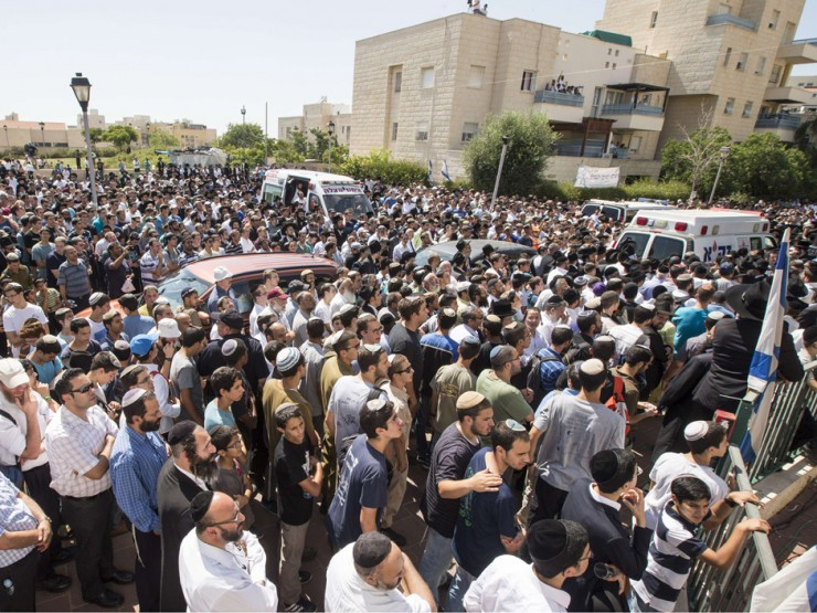 Tens of thousands of Israelis came out to mourn the 3 boys