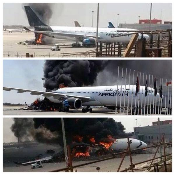 47 people had been killed in fighting between militias from Zintan which control the airport and rivals from Misrata for control of the international airport in the capital Tripoli.