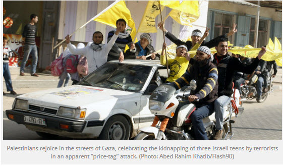 Gazans-celebrate-kidnapping