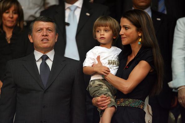 EE.UU. aliado el rey Abdullah II de Jordania y su esposa, la reina Rania y su hijo, el príncipe Hashem bin Al Abdullah