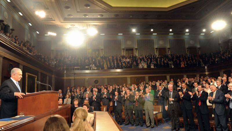 Netanyahu gets standing ovation from U.S. Congress