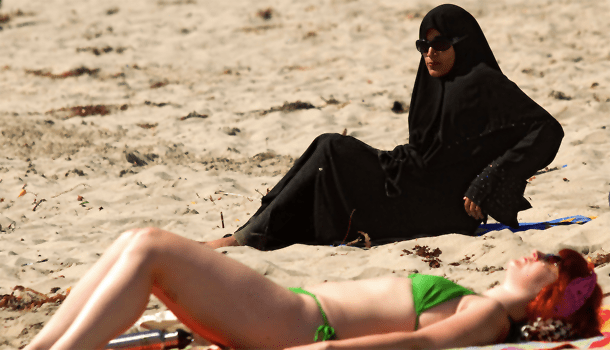 Muslim-Woman-At-Beach